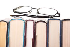 γυαλιά βιβλίων στοκ εικόνα με δικαίωμα ελεύθερης χρήσης
