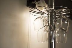 Γυαλιά γυαλιού για το κονιάκ και το κρασί Στοκ Εικόνες
