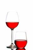 γυαλιά δύο κρασί Στοκ Φωτογραφίες