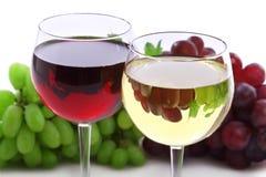 γυαλιά δύο κρασί Στοκ Εικόνες