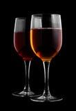 γυαλιά δύο κρασί Στοκ φωτογραφία με δικαίωμα ελεύθερης χρήσης