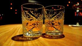 γυαλιά δύο ουίσκυ Στοκ Εικόνες