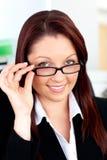 γυαλιά επιχειρηματιών α&upsilo Στοκ Εικόνες