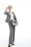 γυαλιά επιχειρηματιών ρύθμισης αυτή μοντέρνη Στοκ εικόνες με δικαίωμα ελεύθερης χρήσης