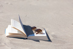γυαλιά ηλίου βιβλίων Στοκ Εικόνα