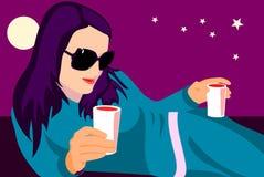 γυαλιά ηλίου νύχτας ελεύθερη απεικόνιση δικαιώματος