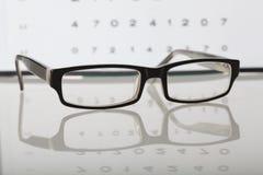 Γυαλιά και διάγραμμα ματιών Στοκ Εικόνες