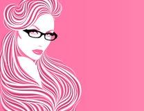 γυαλιά κοριτσιών Στοκ Εικόνα