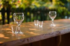 Γυαλιά κρασιού Στοκ φωτογραφία με δικαίωμα ελεύθερης χρήσης