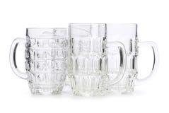 γυαλιά μπύρας που απομονώ Στοκ Εικόνες