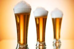 Γυαλιά μπύρας Στοκ φωτογραφίες με δικαίωμα ελεύθερης χρήσης
