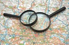 γυαλιά που ενισχύουν άνω  Στοκ φωτογραφίες με δικαίωμα ελεύθερης χρήσης