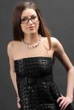 γυαλιά που φορούν τη γυν&al Στοκ εικόνα με δικαίωμα ελεύθερης χρήσης