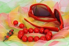 γυαλιά σκουλαρικιών βρ&al Στοκ Εικόνες