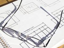 γυαλιά σχεδιαγραμμάτων Στοκ Φωτογραφίες