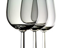 γυαλιά τρία κρασί Στοκ Φωτογραφίες