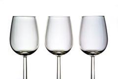 γυαλιά τρία κρασί Στοκ φωτογραφία με δικαίωμα ελεύθερης χρήσης