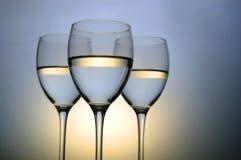 γυαλιά τρία κρασί στοκ εικόνα