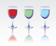 γυαλιά τρία ποτών Στοκ Εικόνες