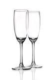 γυαλιά φλαούτων σαμπάνια&sig Στοκ Εικόνες