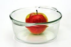 γυαλιά φλυτζανιών μήλων Στοκ φωτογραφία με δικαίωμα ελεύθερης χρήσης