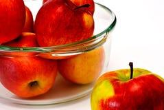 γυαλιά φλυτζανιών μήλων Στοκ Φωτογραφία