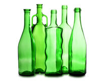 γυαλιά empti μπουκαλιών πράσινα Στοκ φωτογραφίες με δικαίωμα ελεύθερης χρήσης