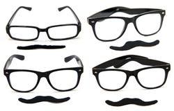 γυαλιά mustaches Στοκ Εικόνες