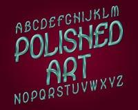 Γυαλισμένος χαρακτήρας τέχνης Μπλε χρυσή μεταλλική πηγή Απομονωμένο αγγλικό αλφάβητο διανυσματική απεικόνιση