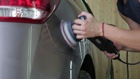 Γυαλίζοντας γκρίζο αυτοκίνητο Αυτοκίνητο που απαριθμεί τη σειρά απόθεμα βίντεο
