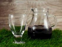 Γυαλί και κανάτα κρασιού Στοκ εικόνα με δικαίωμα ελεύθερης χρήσης