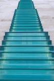 Γυαλί και μαρμάρινη σκάλα Στοκ Εικόνα