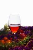 Γυαλί και tinsel κρασιού Στοκ Εικόνα