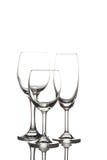 Γυαλί κρασιού και γυαλί σαμπάνιας Στοκ εικόνες με δικαίωμα ελεύθερης χρήσης