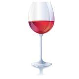 Γυαλί κόκκινου κρασιού Στοκ εικόνες με δικαίωμα ελεύθερης χρήσης