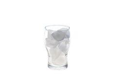 Γυαλί με τον κύβο πάγου Στοκ φωτογραφία με δικαίωμα ελεύθερης χρήσης