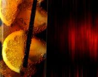 Γυαλί με το κοκ ποτών Στοκ Εικόνες