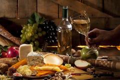 Γυαλί με το κρασί Στοκ Εικόνες