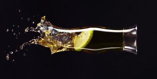 Γυαλί με το χυμό της Apple Στοκ Εικόνες