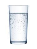 Γυαλί του μεταλλικού νερού στοκ εικόνες