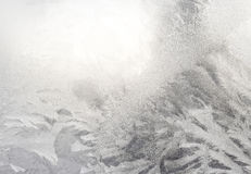 Γυαλί χειμερινών παραθύρων Στοκ Εικόνες