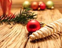 γυαλί Χριστουγέννων σφα&iot Στοκ Εικόνες