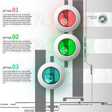 Γυαλί Infographics Στοκ Φωτογραφία