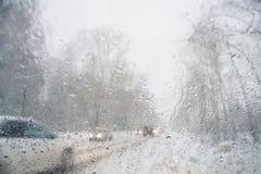 Γυαλί Misted στο αυτοκίνητο Στοκ Εικόνες