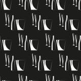 Γυαλιά, ένα μπουκάλι και ένας κάδος για τον πάγο πρότυπο άνευ ραφής επίσης corel σύρετε το διάνυσμα απεικόνισης Στοκ φωτογραφία με δικαίωμα ελεύθερης χρήσης