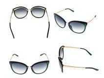 Γυαλιά ήλιων καθορισμένα απομονωμένα πέρα από το άσπρο υπόβαθρο Στοκ φωτογραφίες με δικαίωμα ελεύθερης χρήσης