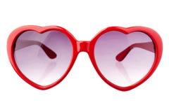 Γυαλιά ήλιων μορφής καρδιών Στοκ φωτογραφία με δικαίωμα ελεύθερης χρήσης