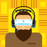 Γυαλιά εικονικής πραγματικότητας επίπεδα Στοκ φωτογραφίες με δικαίωμα ελεύθερης χρήσης