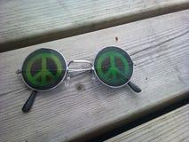 Γυαλιά ειρήνης Στοκ Εικόνες