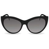Γυαλιά ηλίου γυναικών ` s Μαύρα γυαλιά σε μια άσπρη ανασκόπηση διανυσματική απεικόνιση